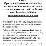 Free summer lunch for parent & child!